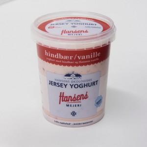 Hindbaer:vanille yoghurt
